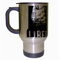 Animal Liberation Front   Chimpanzee  Travel Mug (silver Gray)