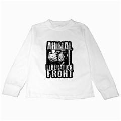 Animal Liberation Front   Chimpanzee  Kids Long Sleeve T Shirts