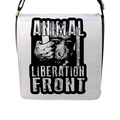 Animal Liberation Front   Chimpanzee  Flap Messenger Bag (l)