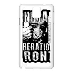 Animal Liberation Front   Chimpanzee  Samsung Galaxy Note 3 N9005 Case (white)