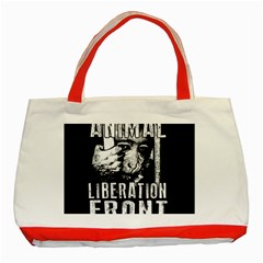 Animal Liberation Front   Chimpanzee  Classic Tote Bag (red)
