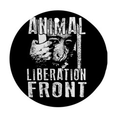 Animal Liberation Front   Chimpanzee  Round Ornament (two Sides)