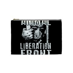 Animal Liberation Front   Chimpanzee  Cosmetic Bag (medium)