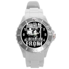 Animal Liberation Front   Chimpanzee  Round Plastic Sport Watch (l)