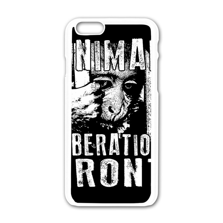 Animal Liberation Front - Chimpanzee  Apple iPhone 6/6S White Enamel Case