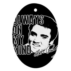 Elvis Presley Oval Ornament (two Sides)