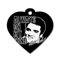 Elvis Presley Dog Tag Heart (one Side)