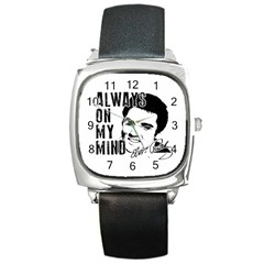 Elvis Presley Square Metal Watch