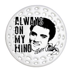 Elvis Presley Round Filigree Ornament (two Sides)