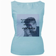 Elvis Presley   All Shook Up Women s Baby Blue Tank Top