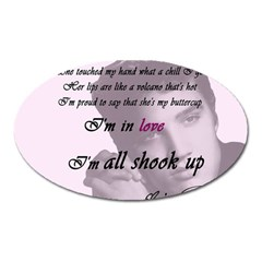 Elvis Presley   All Shook Up Oval Magnet