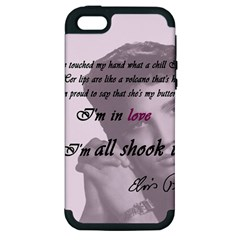 Elvis Presley   All Shook Up Apple Iphone 5 Hardshell Case (pc+silicone)