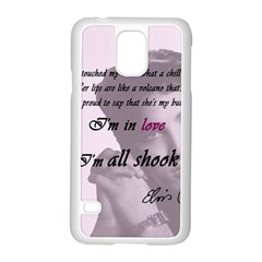 Elvis Presley   All Shook Up Samsung Galaxy S5 Case (white)