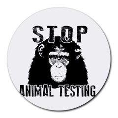 Stop Animal Testing   Chimpanzee  Round Mousepads