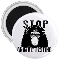 Stop Animal Testing   Chimpanzee  3  Magnets