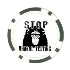 Stop Animal Testing   Chimpanzee  Poker Chip Card Guard