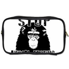 Stop Animal Testing   Chimpanzee  Toiletries Bags