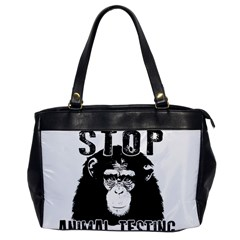Stop Animal Testing   Chimpanzee  Office Handbags