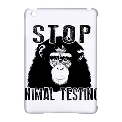 Stop Animal Testing   Chimpanzee  Apple Ipad Mini Hardshell Case (compatible With Smart Cover)