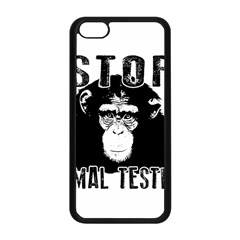 Stop Animal Testing   Chimpanzee  Apple Iphone 5c Seamless Case (black)