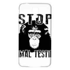 Stop Animal Testing   Chimpanzee  Samsung Galaxy S5 Back Case (white)