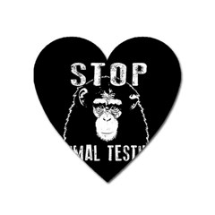 Stop Animal Testing   Chimpanzee  Heart Magnet