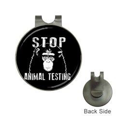 Stop Animal Testing   Chimpanzee  Hat Clips With Golf Markers