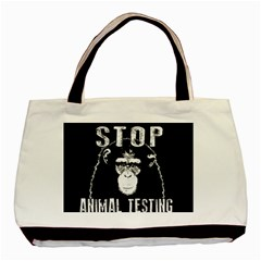 Stop Animal Testing   Chimpanzee  Basic Tote Bag