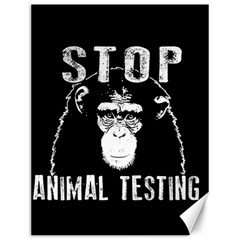 Stop Animal Testing   Chimpanzee  Canvas 12  X 16