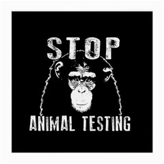 Stop Animal Testing   Chimpanzee  Medium Glasses Cloth