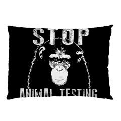Stop Animal Testing   Chimpanzee  Pillow Case