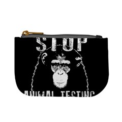 Stop Animal Testing   Chimpanzee  Mini Coin Purses