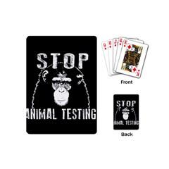 Stop Animal Testing   Chimpanzee  Playing Cards (mini)