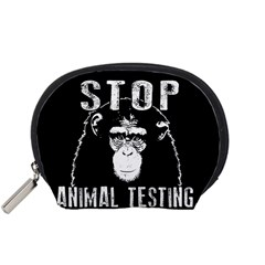 Stop Animal Testing   Chimpanzee  Accessory Pouches (small)