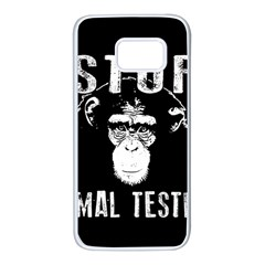 Stop Animal Testing   Chimpanzee  Samsung Galaxy S7 White Seamless Case