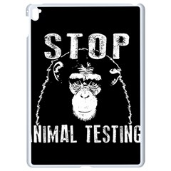 Stop Animal Testing   Chimpanzee  Apple Ipad Pro 9 7   White Seamless Case