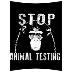 Stop Animal Testing   Chimpanzee  Back Support Cushion