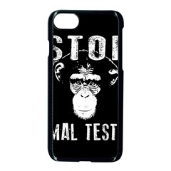 Stop Animal Testing   Chimpanzee  Apple Iphone 8 Seamless Case (black)