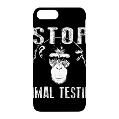 Stop Animal Testing   Chimpanzee  Apple Iphone 8 Plus Hardshell Case
