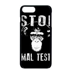 Stop Animal Testing   Chimpanzee  Apple Iphone 8 Plus Seamless Case (black)