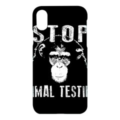 Stop Animal Testing   Chimpanzee  Apple Iphone X Hardshell Case
