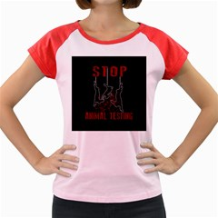 Stop Animal Testing   Rabbits  Women s Cap Sleeve T Shirt