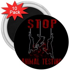 Stop Animal Testing   Rabbits  3  Magnets (10 Pack)