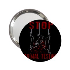 Stop Animal Testing   Rabbits  2 25  Handbag Mirrors