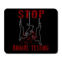 Stop Animal Testing   Rabbits  Large Mousepads