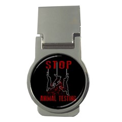 Stop Animal Testing   Rabbits  Money Clips (round)
