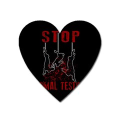 Stop Animal Testing   Rabbits  Heart Magnet