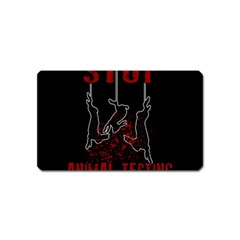 Stop Animal Testing   Rabbits  Magnet (name Card)
