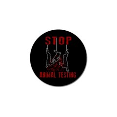 Stop Animal Testing   Rabbits  Golf Ball Marker (10 Pack)
