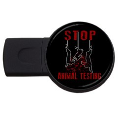 Stop Animal Testing   Rabbits  Usb Flash Drive Round (2 Gb)